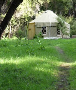 Secret bush yurt in the magical Okuti Garden