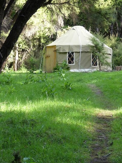 Secret bush yurt in the magical Okuti Garden