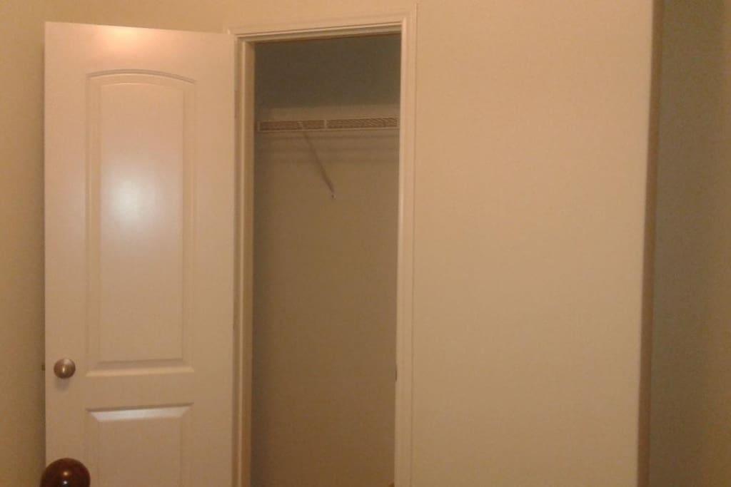closet in bedroom