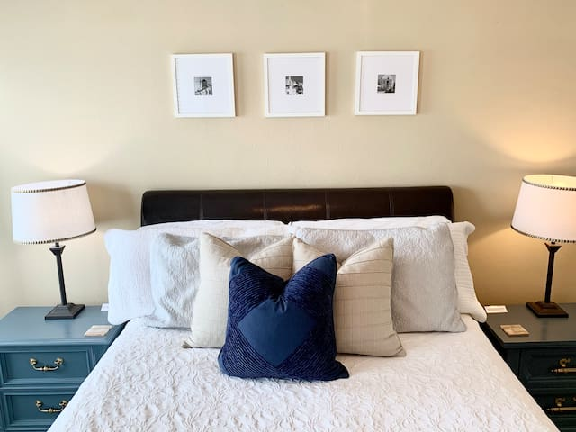 Master bedroom complete with a comfortable queen bed and two spacious night stands!
