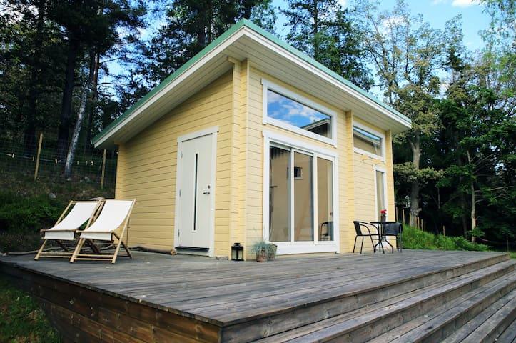 Serene cabin in Stockholm National Park