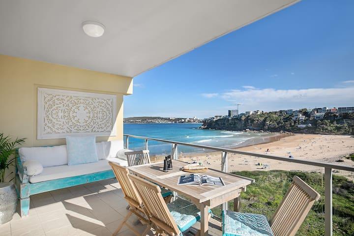 Beach Front Bliss! 2 bed 2 bath 2 living & Garage