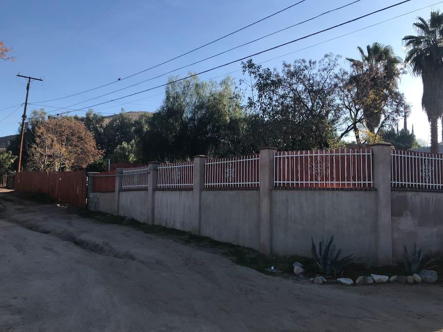 House outside gate
