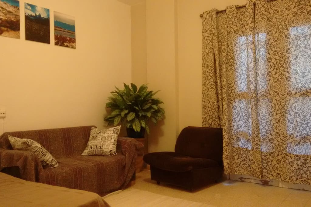 Second room. Here you will have a double bed and a sofa, come and relax...
