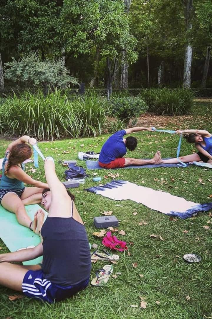 Yoga students