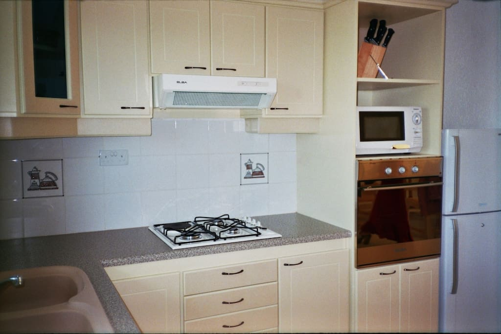 Kitchen with dual cooker (gas & electricity)