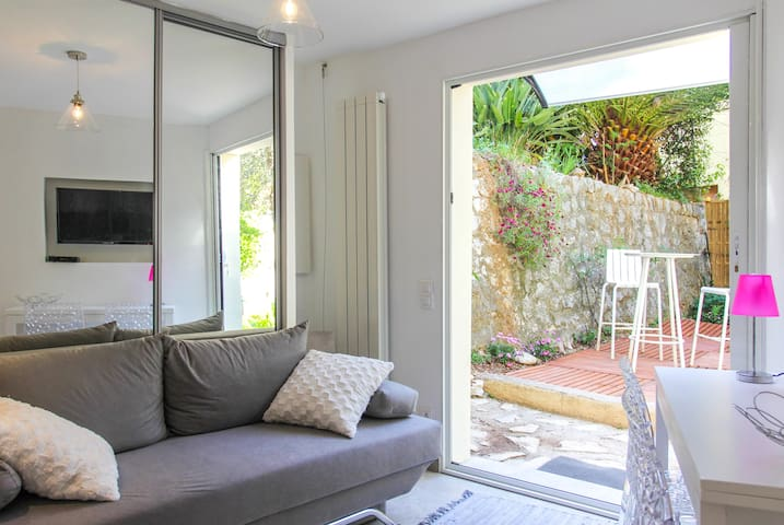 ★Bright 1-bedroom apt with garden★  - Villefranche-sur-Mer - Apartamento