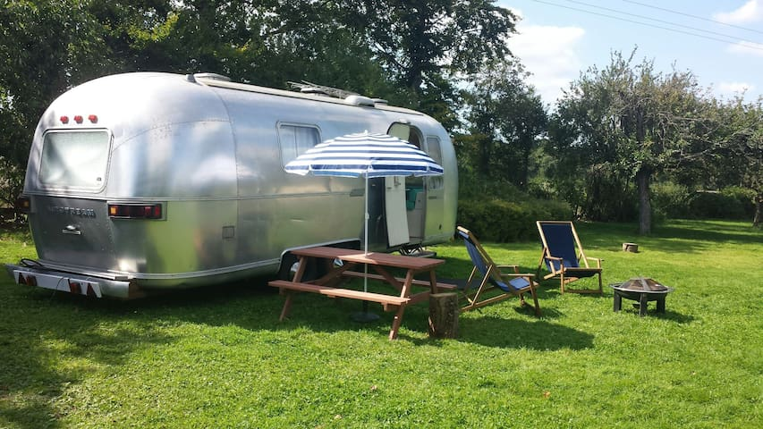 Stylish heated Airstream in the surrey hills