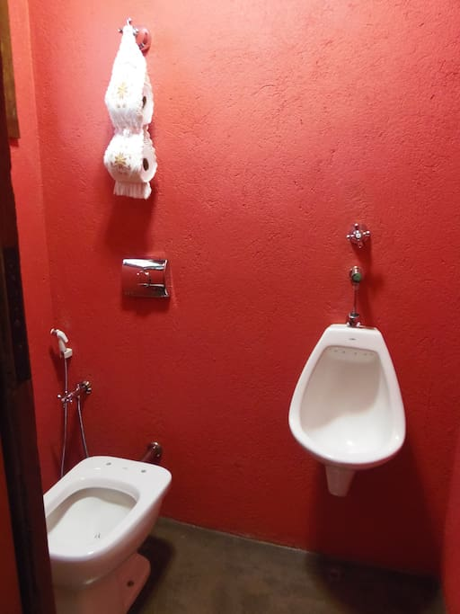 Vista de um dos lavabos