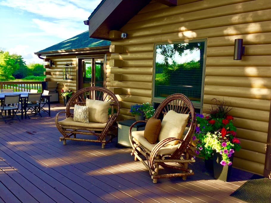 Relax on the huge front porch