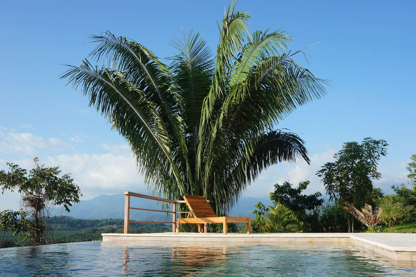 The view from our stunning quartz and limestone infinity pool