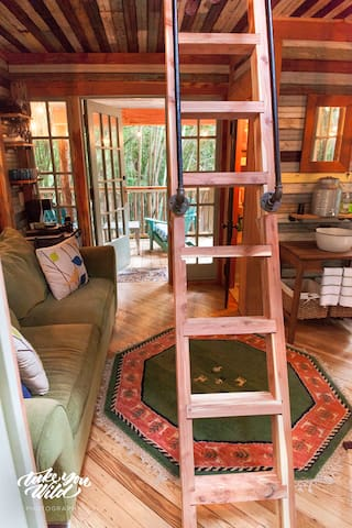 Lindsay Appel's shot of our cedar ladder and beautiful interior