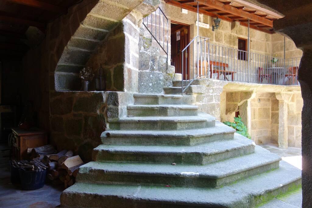 Subimos las escaleras de la Casqueira...