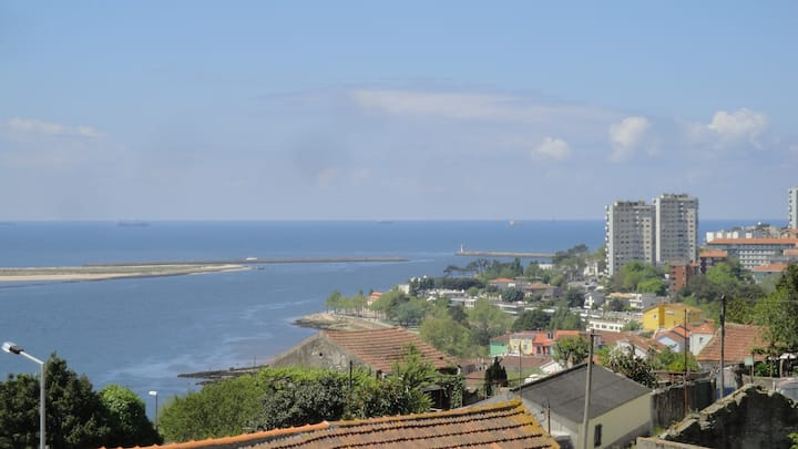View over the mouth of the Douro