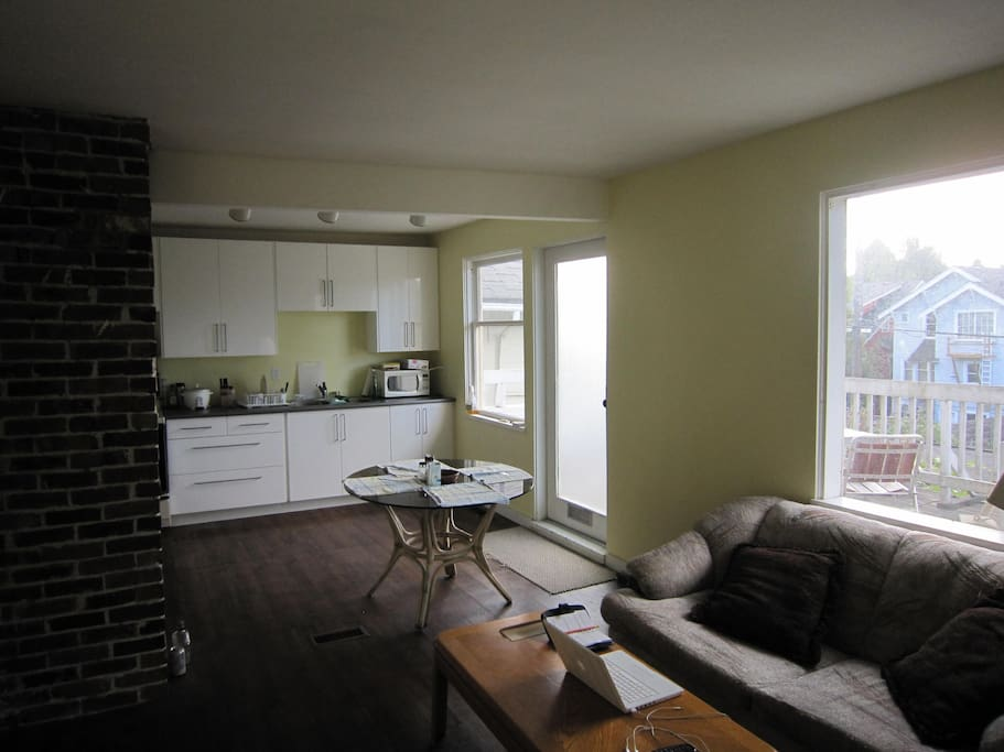 shared living room and kitchen