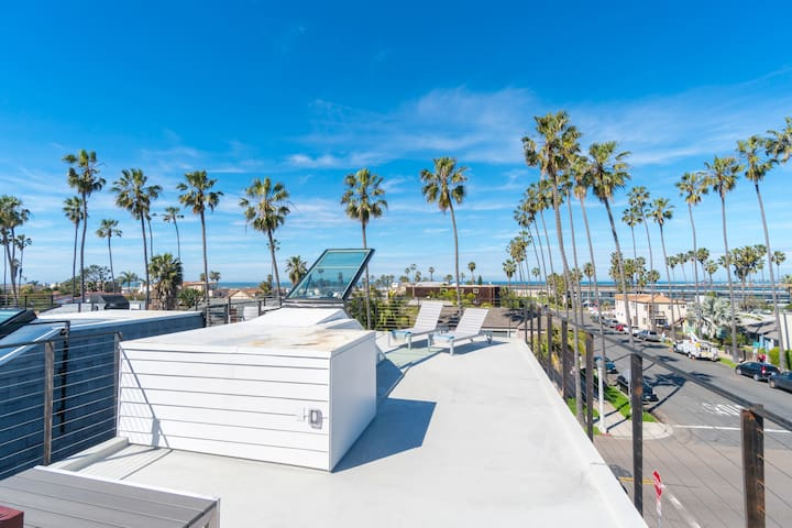 Modern Home, Rooftop Deck, Ocean Views (T1up)