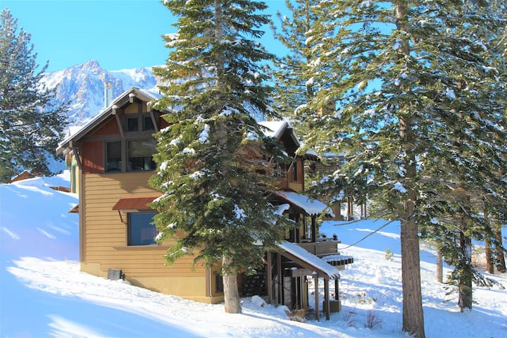 Within one mile of this gorgeous vacation home you can enjoy two glacial lakes full of trophy trout, and the June Mountain ski area.
