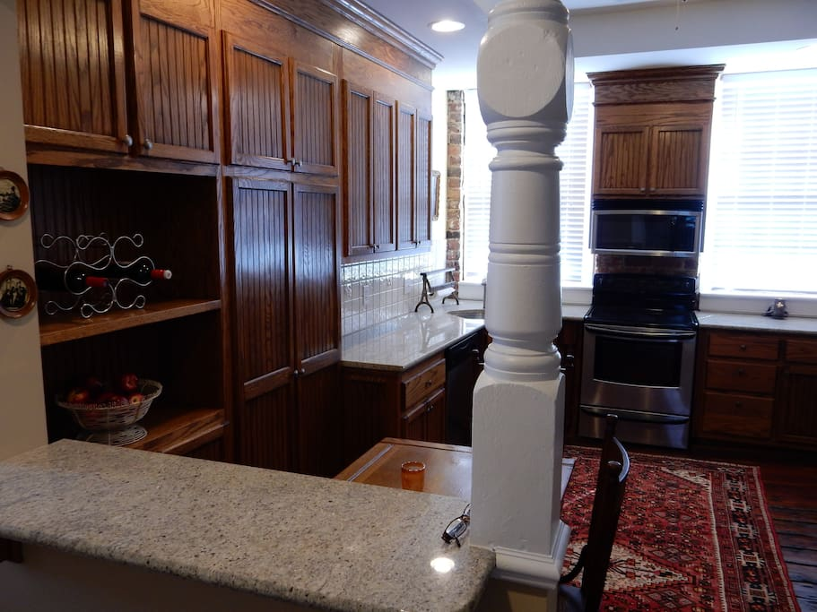 Custom cabinets with granite counter top.