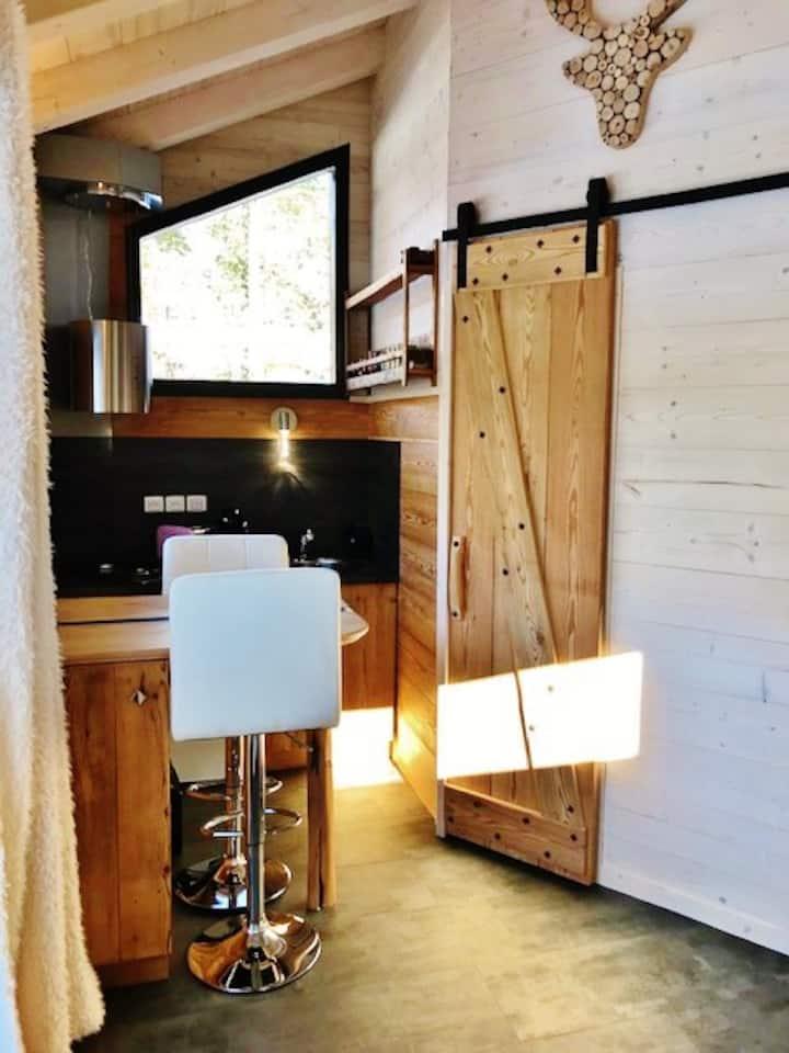 """Studio  Cosy  Chalet """"TAIGA"""" thypique en bois"""