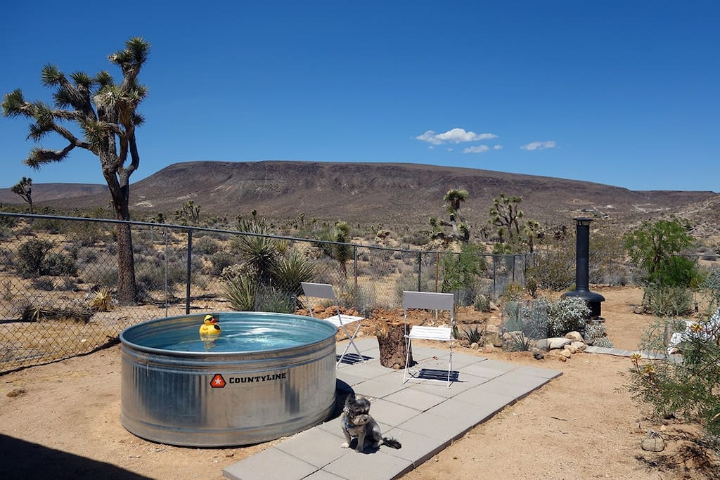 Summer Cowboy tub with stellar views! Note that the cowboy pool is available only for the summer months and weather pending, generally June/July - September. Inquire to confirm that it is available.
