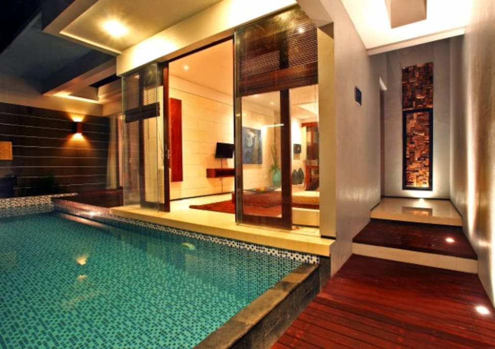 the villas and private pools