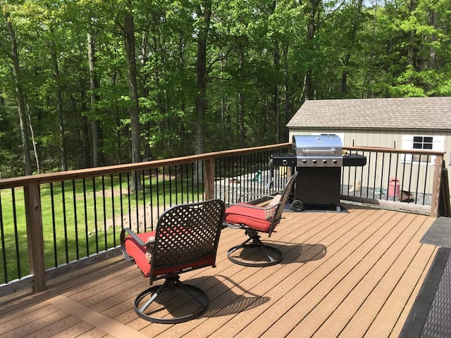Full back deck with BBQ!