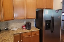 Double Fridge and Keurig Coffee Maker for guest use