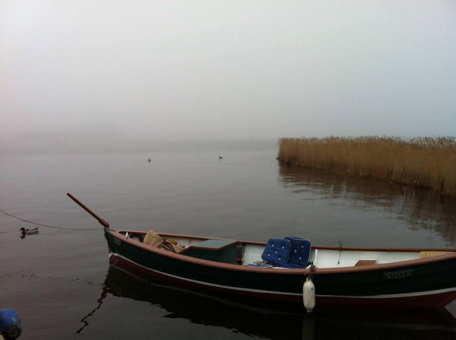 Mein Tuckerboot am Liegeplatz