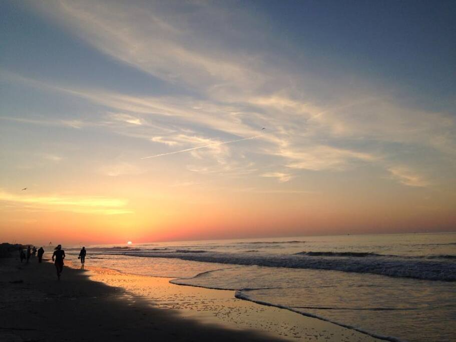 The sunrise on Folly Beach is totally worth getting up early. Just 2 miles to the beach!