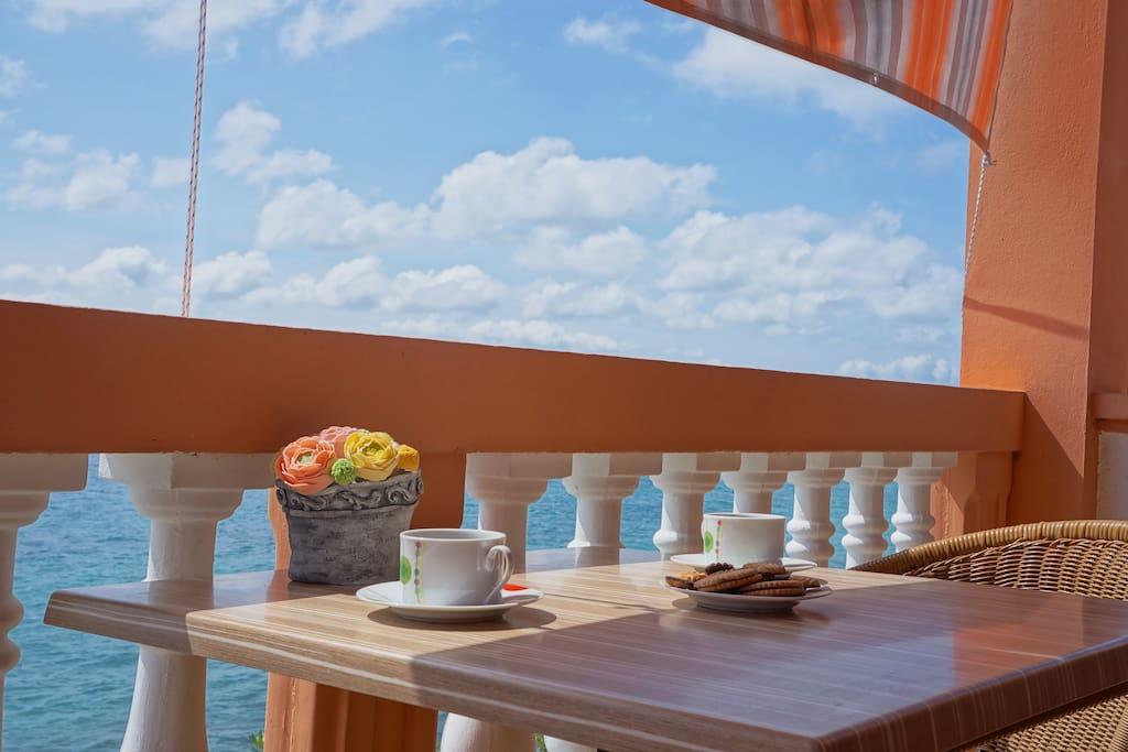 big balcony with amaizing view