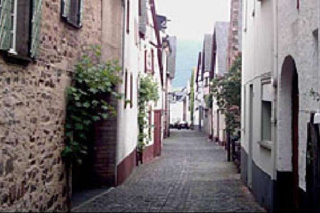 historische Dorfstrasse in Fankel
