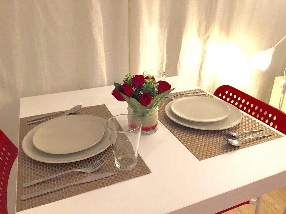 Dining sets provided