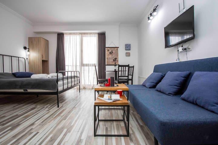 """Studio apartment at """"Gudauri Loft"""" (Mgzavrebi)"""