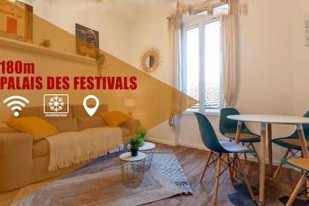Hyper Centre Cannes 180m du PALAIS DES FESTIVALS