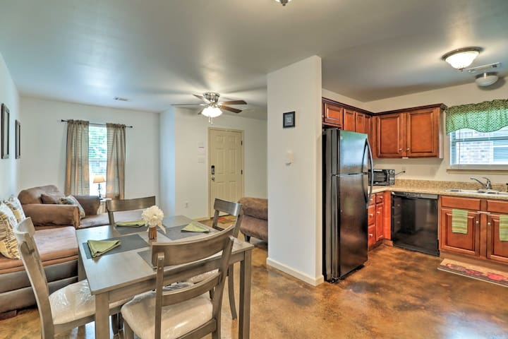 Inside, you'll find the comforts of home, including a fully equipped kitchen.
