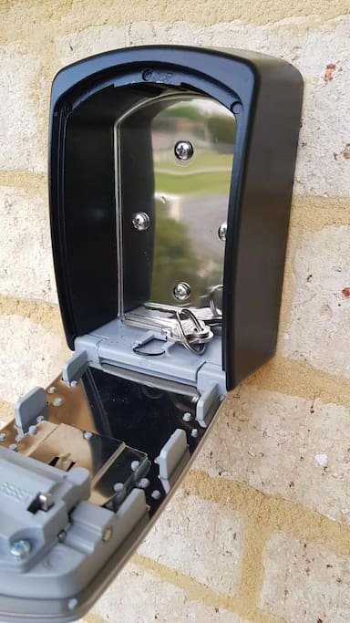 Self Check-in Lock Box at Front Entrance