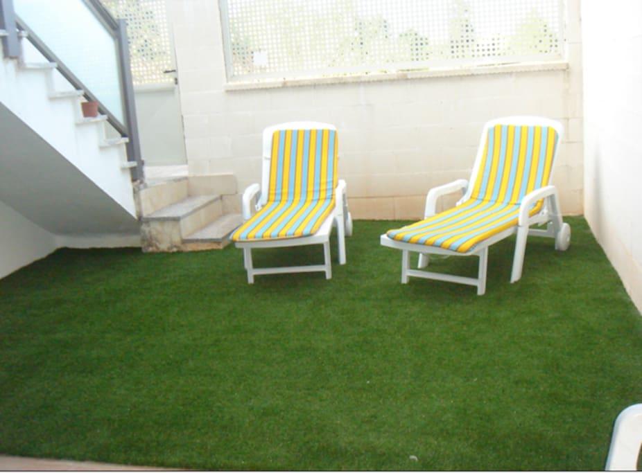 Jardín privado del dúplex _ acceso directo