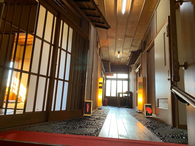Traditional style onsen(natural hot spring) inn .