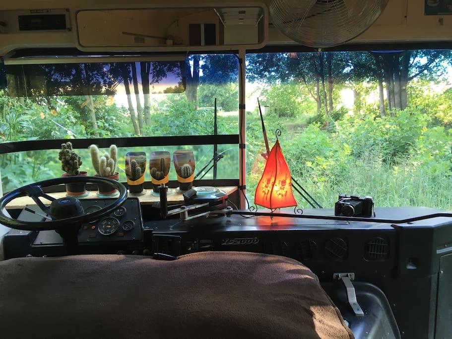 Schlafen im Bus
