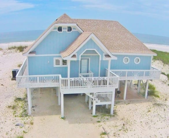 Visit Down The Hatch Beachfront 4 Bedroom 4 Bath on 100 ft of Private Beach - 1974