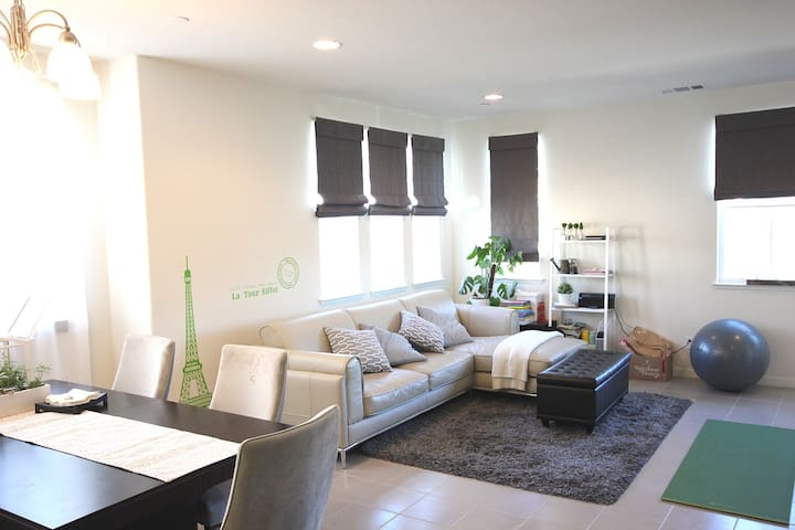East bay: Private Master Suite in new townhome独立卫浴 - Hayward
