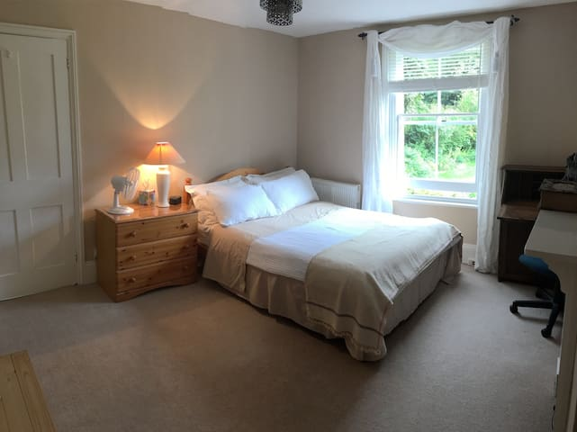 Spacious double room & private separate bathroom.