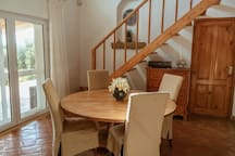 Open plan inside dining area...shown with only4 chairs but there are 8 if you are a group of 8