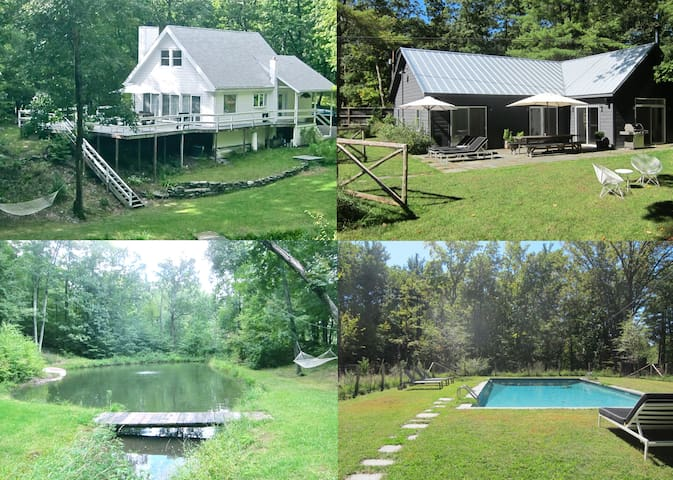 SECLUDED COUNTRY COMPOUND UPSTATE HUDSON NY - ฮัดสัน - บ้าน
