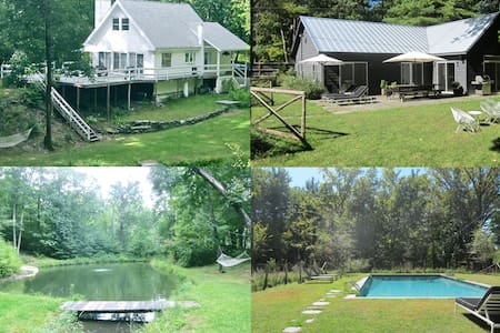 SECLUDED COUNTRY COMPOUND UPSTATE HUDSON NY - Hudson - Casa