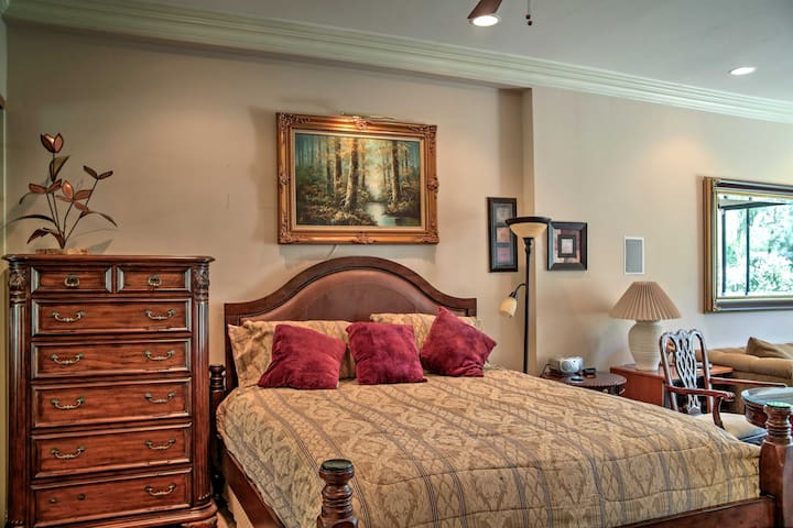 Catch up on some much needed sleep in the comfy king-sized bed in the master suite.