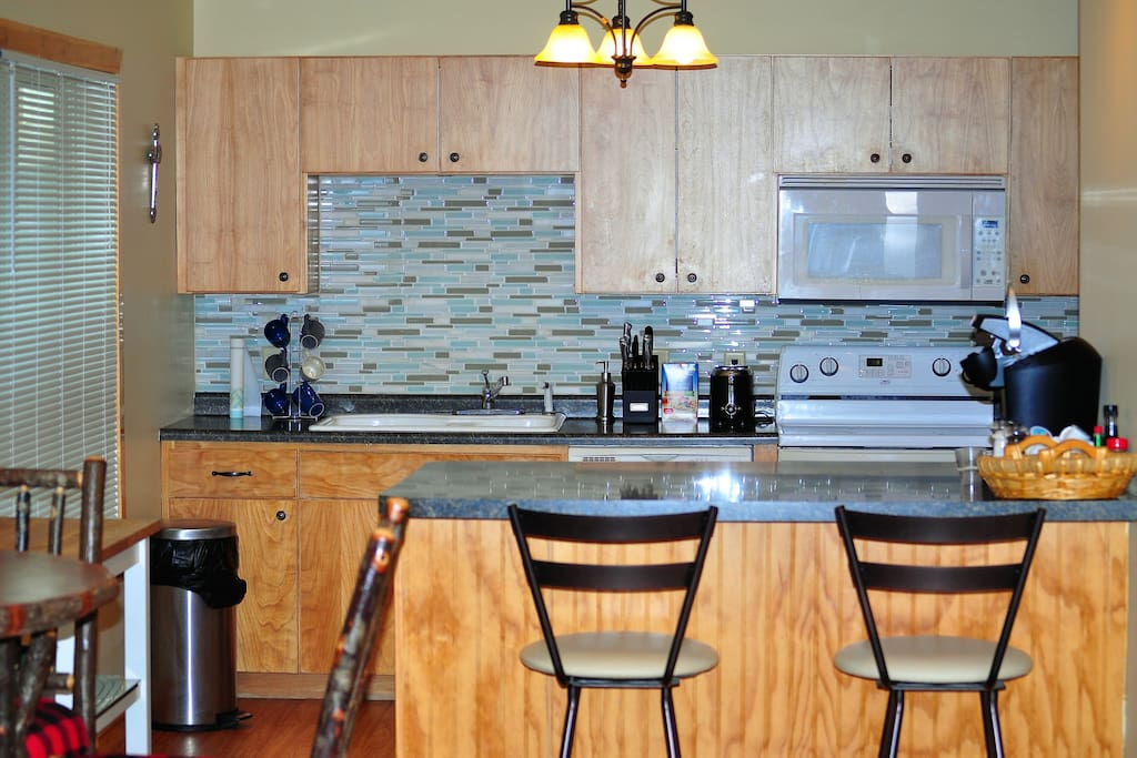 Large kitchen with 2 refrigerators for lots of space