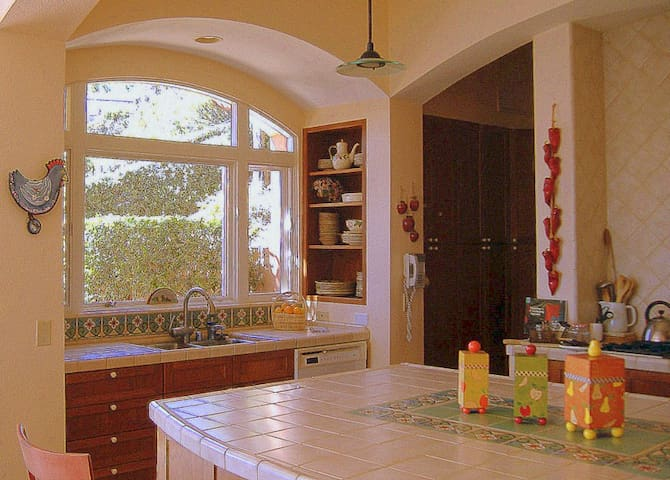 Cooks Kitchen with top of the line appiances, dishes, cookware etc.
