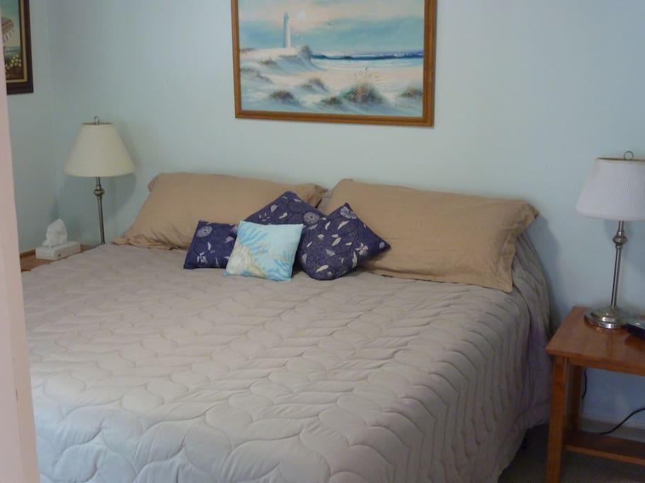 Fantastic King Bed.