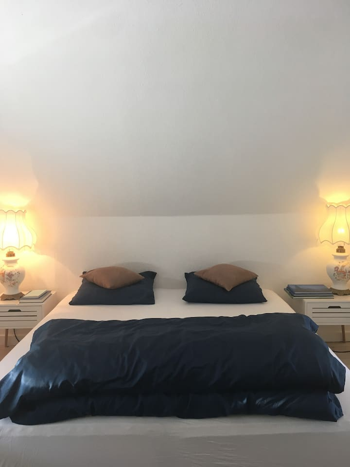 Deluxe double room with window & city view, spacious & lighting!